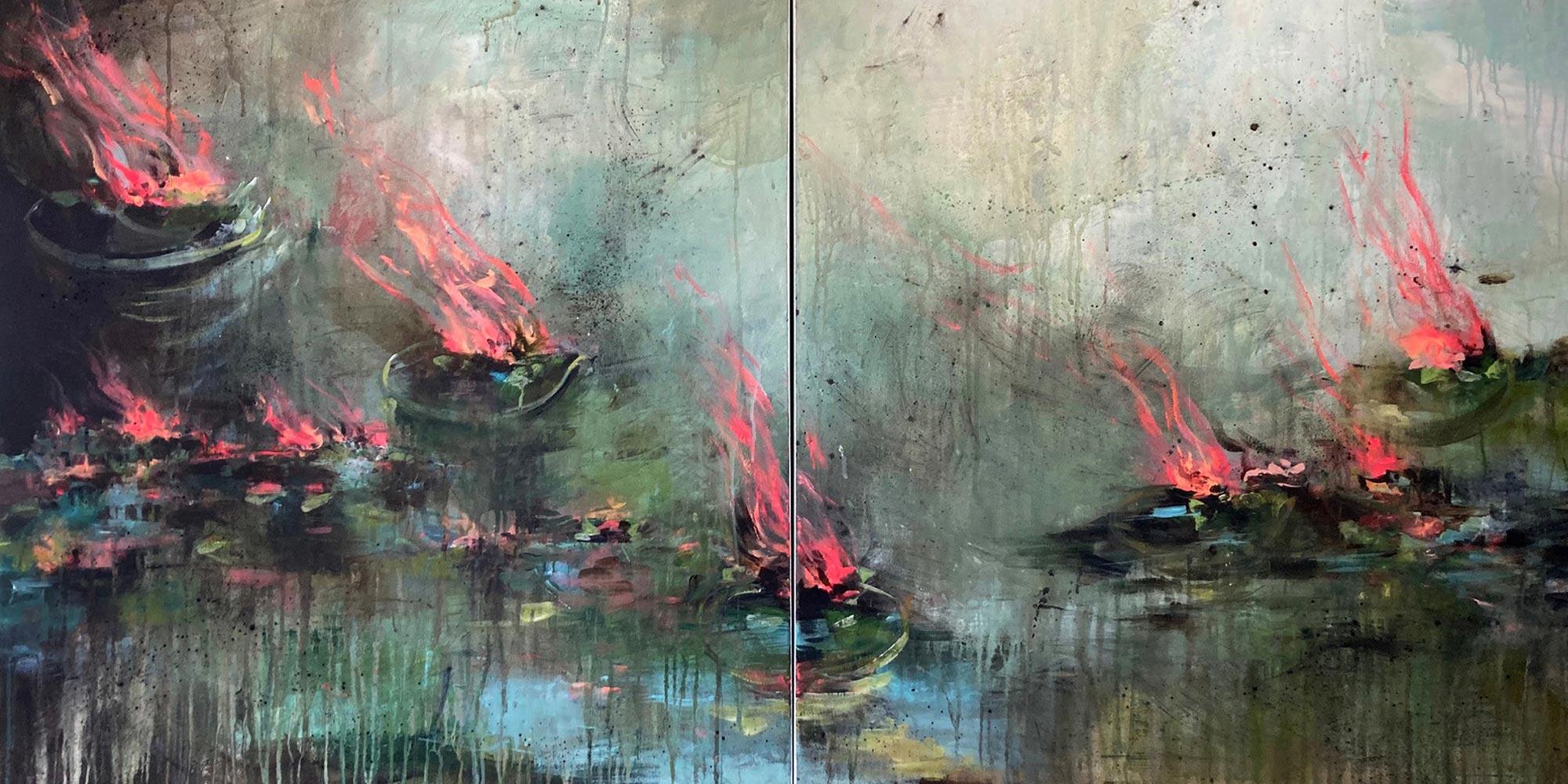 Estelle Séré - artiste peintre - peinture waterlilies