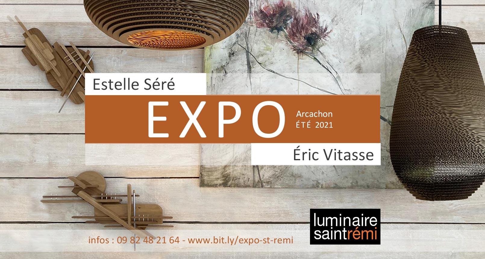 Exposition Arcachon - peintures Estelle Séré / sculptures Éric Vitasse Éte 2021