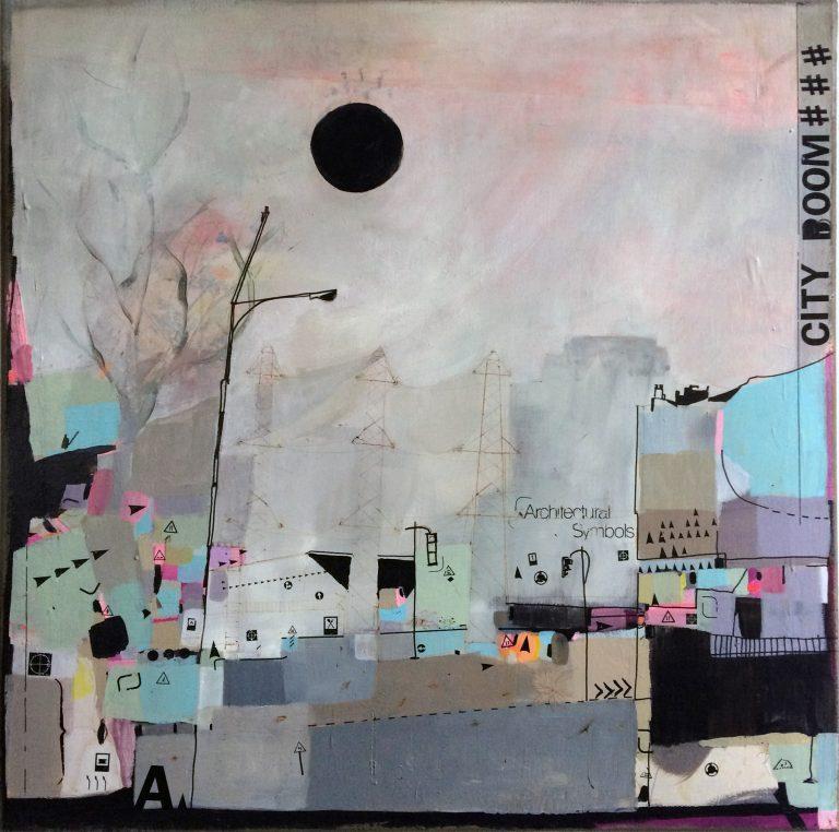 City Boom - Technique mixte sur toile / 2014 - Estelle Séré