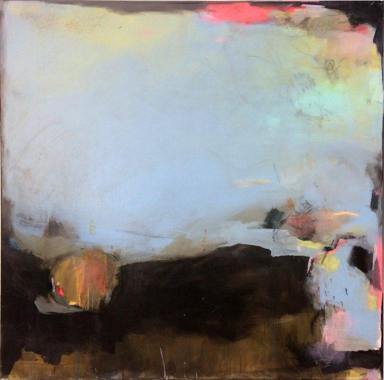 Blue landscape - Peinture sur toile - Estelle Séré