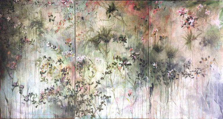 Peinture Estelle Séré - Triptyque mixte sur toile